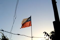 Decadence in some parts of Chile is overwhelming but patriotism still stands royalty free stock images