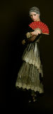 Decadencia con un ventilador rojo Imagen de archivo libre de regalías