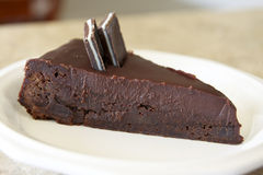 Decadent Brownie Pie Stock Photo