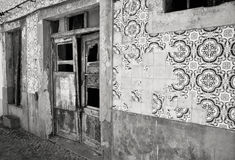 Decadent building. Black and white photo. A black and white photo of a decadent old house Royalty Free Stock Image