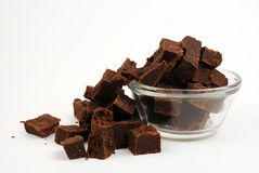 Decadent Chunks of chocolate fudge Royalty Free Stock Photo