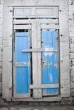 Decadent frontdoor. Facade of decadent wooden frontdoor Royalty Free Stock Photography