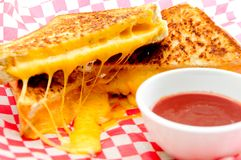 Decadent grilled cheese sandwiches Stock Image