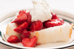 decadent strawberry shortcake Stock Images