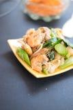 Decadent thai chicken stir fry. Thai call Pat see ew Stock Photos