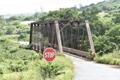 A Decades-Old Road Workhorse. Single Lane Bridge Royalty Free Stock Image