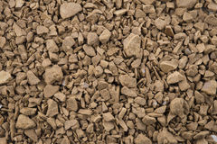 Decaf coffee powder. Background of close focus on premium brown decaf coffee powder royalty free stock photos