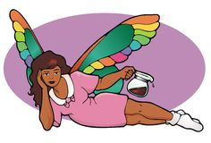 The Decaf Fairy Royalty Free Stock Photos