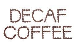 Decaf-Kaffee-Zeichen lizenzfreie stockbilder