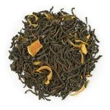 Decaffapelsin för svart te Arkivbilder