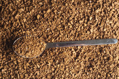 Decaffeinated coffee granules with spoon Stock Images