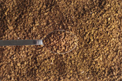 Decaffeinated coffee granules with spoon Royalty Free Stock Image