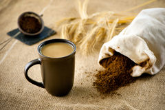 Decaffeinated coffee with milk Royalty Free Stock Photos