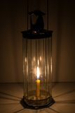 Decagon glass lamp Royalty Free Stock Image