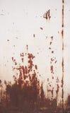 Decaimiento y oxidado del panel de acero Imágenes de archivo libres de regalías