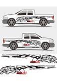decal γραφική παράσταση τιγρών για το φορτηγό και τα οχήματαη Στοκ Εικόνα