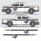 Decal γραφικό σχέδιο φορτηγών και οχημάτων Στοκ Φωτογραφίες