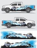Decal γραφικό σχέδιο φορτηγών και οχημάτων Στοκ Εικόνες