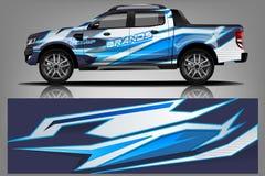 Decal διάνυσμα σχεδίου περικαλυμμάτων αυτοκινήτων Γραφικά αφηρημένα σχέδια εξαρτήσεων υποβάθρου αγώνα λωρίδων για το όχημα, το ρά ελεύθερη απεικόνιση δικαιώματος