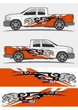 Decal σχέδιο εξαρτήσεων γραφικής παράστασης φορτηγών και οχημάτων Στοκ Εικόνα