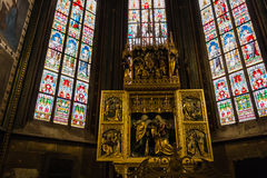 Decal of St. Vitus Cathedral in Prague Royalty Free Stock Photography