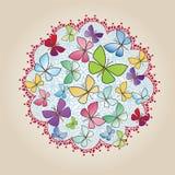 Decalque do ornamento do projeto da borboleta ilustração do vetor