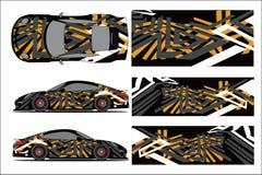 Decalque do vinil para o carro ilustração stock