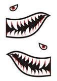 Decalques dos dentes do tubarão Fotos de Stock Royalty Free