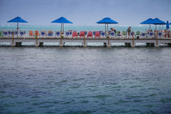 Decameron Aquarium Hotel Dock and view of the Sea Stock Images