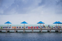Decameron Aquarium Hotel Dock and view of the Sea Stock Photo