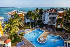 Decameron-Aquarium-Hotel in San Andres Island Lizenzfreie Stockfotos