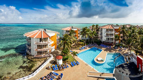 Decameron Aquarium Hotel in San Andres Island Royalty Free Stock Images