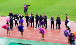 DecaNation International Outdoor Games on September 13, 2015 in Paris, France. Royalty Free Stock Photography