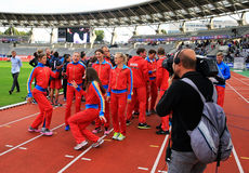 DecaNation International Outdoor Games on September 13, 2015 in Paris, France. Royalty Free Stock Image