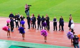 DecaNation Międzynarodowe Plenerowe gry na Wrześniu 13, 2015 w Paryż, Francja Fotografia Royalty Free