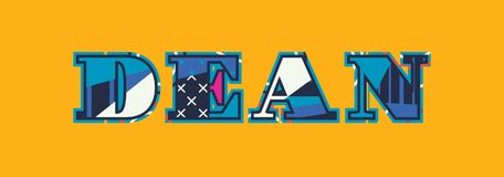 Decano Concept Word Art Illustration stock de ilustración