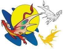 Decano el dragón ilustración del vector