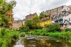 Decano Village a Edimburgo, Scozia fotografie stock libere da diritti