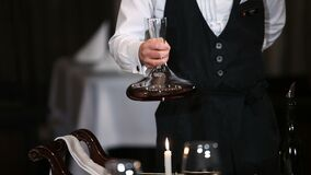 Decantation of wine. Hd video stock video