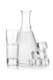 Decanter and glass of iced vodka Royalty Free Stock Photo
