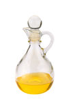 Decanter glass with oil Royalty Free Stock Photography