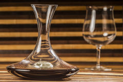 Decanter and glass Royalty Free Stock Images