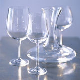 Decanter and glasses. Food , drinks, beverages,cookery Royalty Free Stock Images