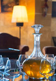 Decanter with glasses. Royalty Free Stock Photography