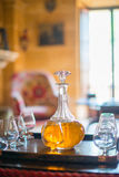 Decanter with glasses. Royalty Free Stock Image