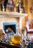 Decanter with glasses. Stock Images