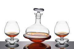 Decanter and glasses Stock Image