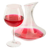 Decanter and goblet. On the white background Royalty Free Stock Images