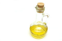 Decanter with an olive oil. Additive Royalty Free Stock Photo