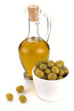 Decanter with olive oil Royalty Free Stock Photos